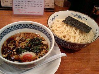 楼蘭 醤油つけ麺@大阪駅前第二ビル