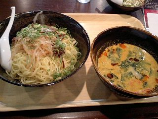 遙華 特製黄金つけ麺@大阪第3ビルB2F
