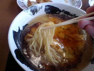 餃子の王将 こってり天津麺 麺