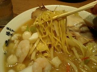 ラーメン横綱 海鮮炒菜ラーメン 麺