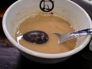 つけ麺 紋次郎 つけめん(並) スープ割り後