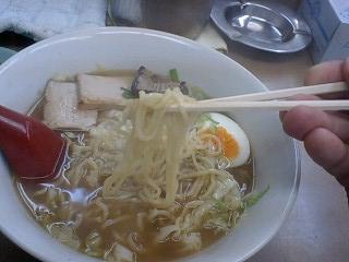 昭和 醤油ラーメン 麺
