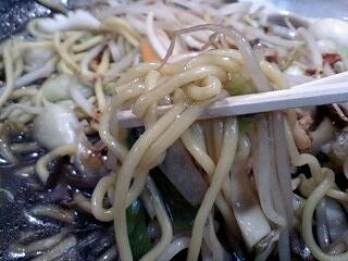 餃子の王将 ブラックチャンポン 麺