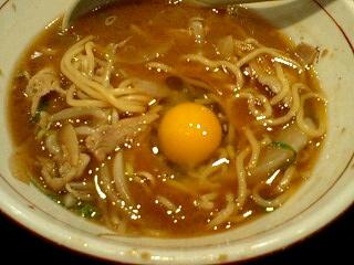 麺屋肉八 肉そば(ヘビー級) 卵投入