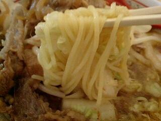 神座 牛焼肉と野菜のスタミナラーメン(中盛) 麺