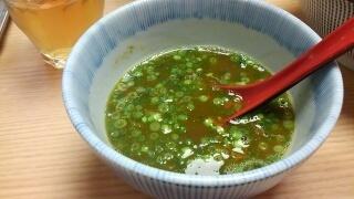 MENSHO TOKYO ラム豚骨つけ麺(ノーマル)煮干醤油 スープ割り