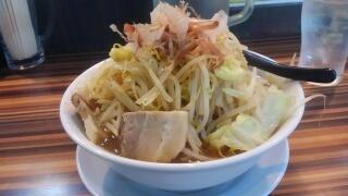 笑福 ラーメン大盛[野菜増しにんにく無し]@大阪西中島店