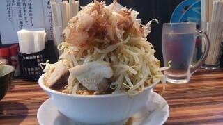 笑福 ラーメン[野菜増し増しカツオ増しにんにく有]@大阪西中島店