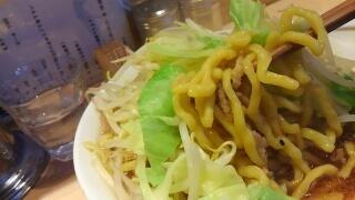 激流 野菜入大(生卵にんにく無し) 麺