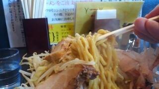 楽人 ラーメン(野菜カツオ増し) 麺