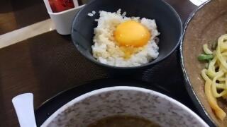 麺や 五山 五山つけ麺ガーリックパンチ 〆ご飯