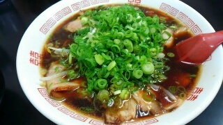 新福菜館 中華そば(大)@大津京店