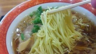 福山サービスエリア(下りフードコート) 尾道ラーメン(大盛W) 麺