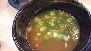 麺屋 縁一 超濃厚魚介つけ麺(大盛) スープ割り