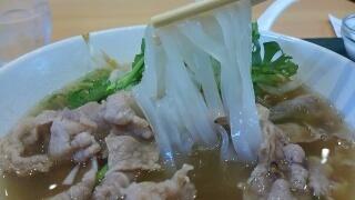 レストラン みんぱく 牛肉のフォー 麺