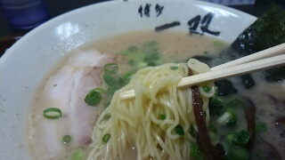 博多一双 豚骨ラーメン 麺