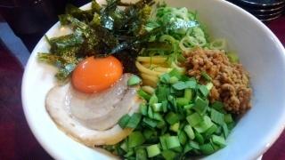 至極の麺 華 まぜそば(中盛)@大阪駅前第2ビル
