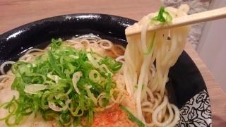 えきそば 天ぷらえきそば特盛 麺