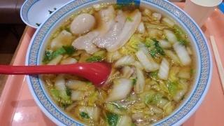 神座 おいしいラーメン(煮卵大盛)@あべのキューズモール店