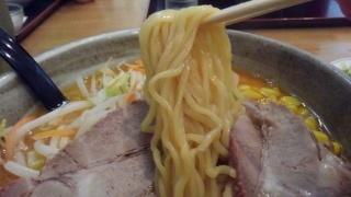 らくらく亭 鶏骨赤味噌ラーメン(大) 麺
