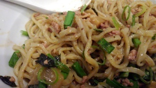 ダイキ麺 台湾まぜ麺(辛)大盛り かき混ぜ後