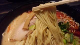 ラーメンほそかわ 赤元味 麺