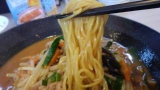 餃子の王将 味噌ラーメン 麺