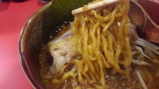 麺屋 手前味噌 味噌ラーメン 麺