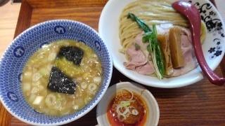 別邸たけ井 あっさり鶏豚骨(つけ麺)@なんばラーメン一座店