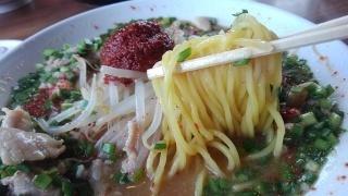 伝丸 ドラゴン味噌肉ラーメン赤 麺