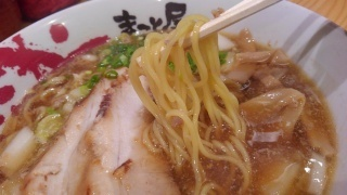 ラーメンまこと屋 鶏じゃんラーメン 麺